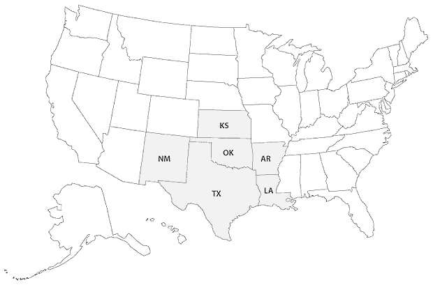 clickable U.S. map