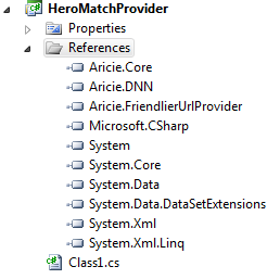 Aricie Friendlier URL provider. References the rewriting provider project needs